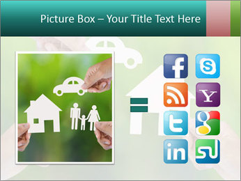 Hand holding a paper home PowerPoint Template - Slide 21