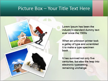 Hand holding a paper home PowerPoint Template - Slide 23