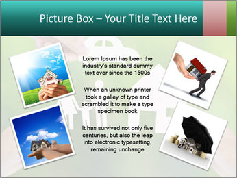 Hand holding a paper home PowerPoint Template - Slide 24