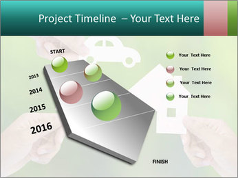Hand holding a paper home PowerPoint Template - Slide 26