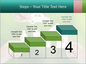 Hand holding a paper home PowerPoint Template - Slide 64