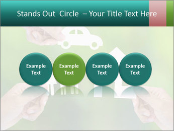Hand holding a paper home PowerPoint Template - Slide 76