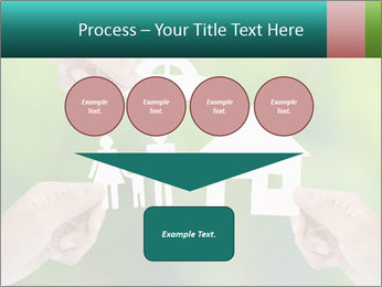 Hand holding a paper home PowerPoint Template - Slide 93