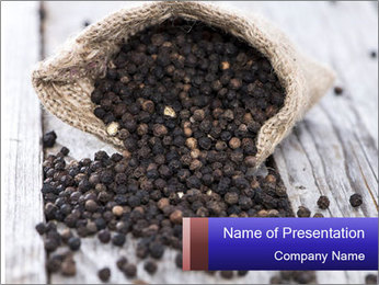 Fresh Black Pepper PowerPoint Template