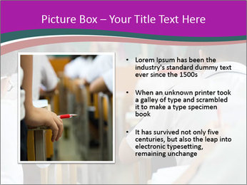 Group of middle school studying in classroom PowerPoint Template - Slide 13