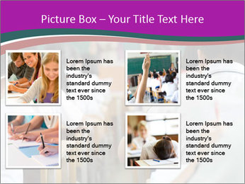Group of middle school studying in classroom PowerPoint Template - Slide 14