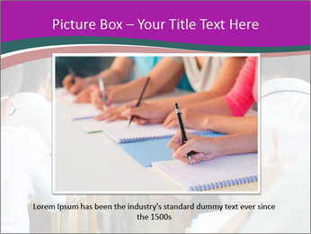 Group of middle school studying in classroom PowerPoint Template - Slide 15