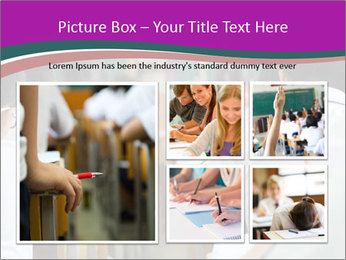 Group of middle school studying in classroom PowerPoint Template - Slide 19