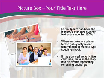 Group of middle school studying in classroom PowerPoint Template - Slide 20
