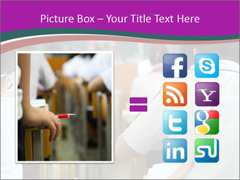 Group of middle school studying in classroom PowerPoint Template - Slide 21