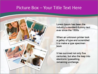 Group of middle school studying in classroom PowerPoint Template - Slide 23