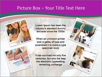 Group of middle school studying in classroom PowerPoint Templates - Slide 24