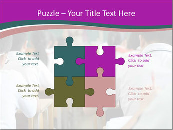 Group of middle school studying in classroom PowerPoint Template - Slide 43