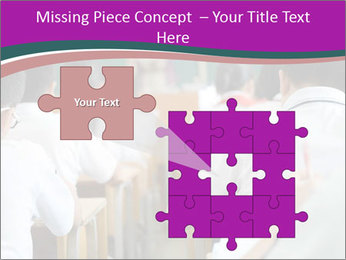 Group of middle school studying in classroom PowerPoint Template - Slide 45