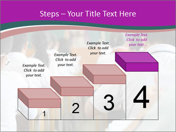 Group of middle school studying in classroom PowerPoint Templates - Slide 64