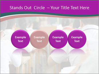 Group of middle school studying in classroom PowerPoint Template - Slide 76