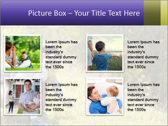 Father introducing toddler daughter PowerPoint Templates - Slide 14