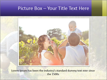 Father introducing toddler daughter PowerPoint Templates - Slide 15
