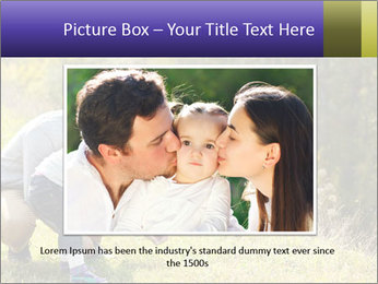 Father introducing toddler daughter PowerPoint Templates - Slide 16