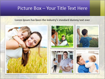 Father introducing toddler daughter PowerPoint Templates - Slide 19