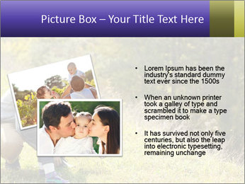 Father introducing toddler daughter PowerPoint Templates - Slide 20
