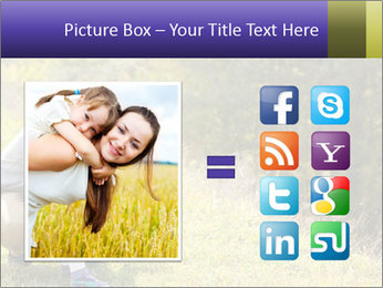 Father introducing toddler daughter PowerPoint Templates - Slide 21