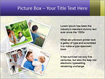 Father introducing toddler daughter PowerPoint Templates - Slide 23