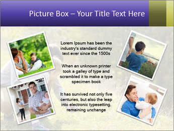 Father introducing toddler daughter PowerPoint Templates - Slide 24