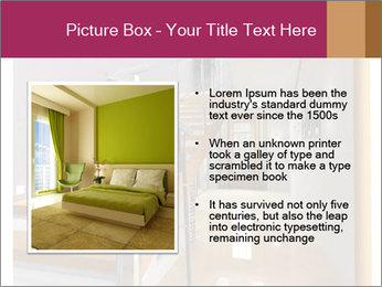 Modern hall interior with stair PowerPoint Template - Slide 13