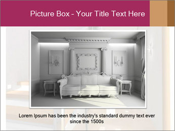 Modern hall interior with stair PowerPoint Template - Slide 16
