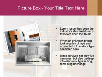 Modern hall interior with stair PowerPoint Template - Slide 20