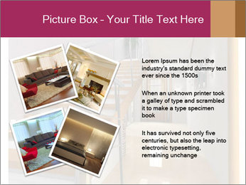 Modern hall interior with stair PowerPoint Template - Slide 23