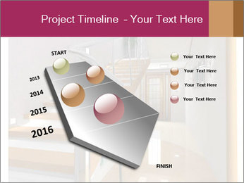 Modern hall interior with stair PowerPoint Template - Slide 26