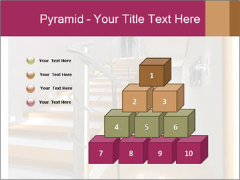 Modern hall interior with stair PowerPoint Template - Slide 31