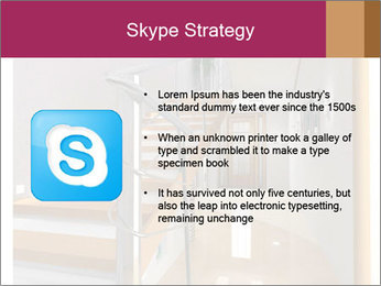 Modern hall interior with stair PowerPoint Template - Slide 8