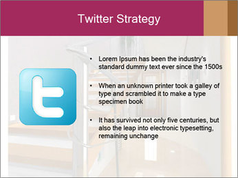Modern hall interior with stair PowerPoint Template - Slide 9