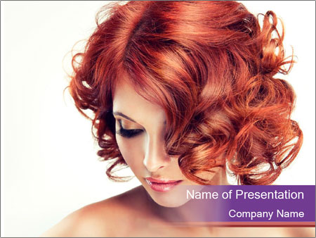 A girl hesitates PowerPoint Template
