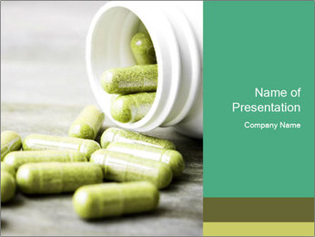 Herb capsule spilling PowerPoint Template