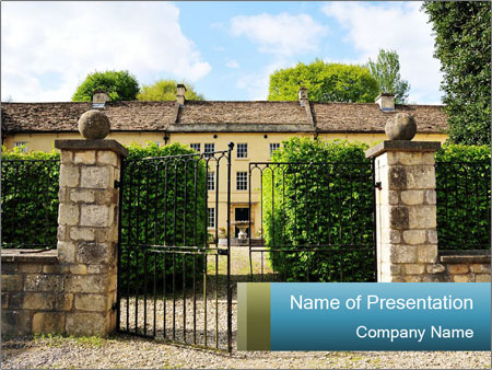 Gated Entrance PowerPoint Template