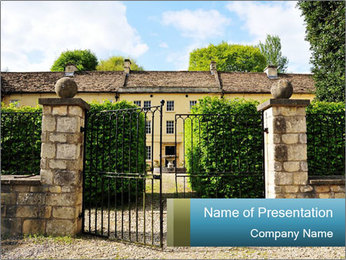 Gated Entrance PowerPoint Template - Slide 1