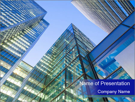 Windows of Skyscraper Business Office PowerPoint Templates