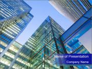 Windows of Skyscraper Business Office PowerPoint Template