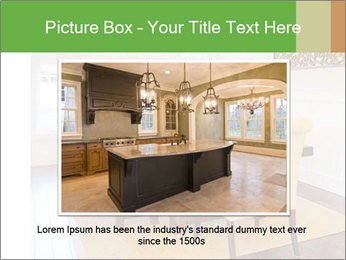 Dining Room in New Luxury Home PowerPoint Template - Slide 15