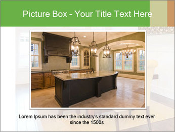 Dining Room in New Luxury Home PowerPoint Template - Slide 16