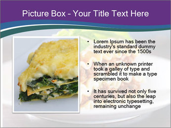 Lasagna with basil and ricotta cheese PowerPoint Templates - Slide 13