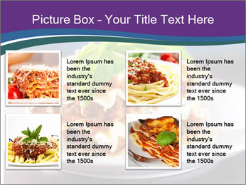 Lasagna with basil and ricotta cheese PowerPoint Templates - Slide 14
