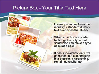 Lasagna with basil and ricotta cheese PowerPoint Templates - Slide 17
