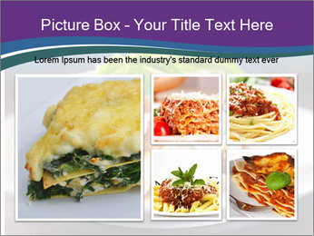 Lasagna with basil and ricotta cheese PowerPoint Templates - Slide 19