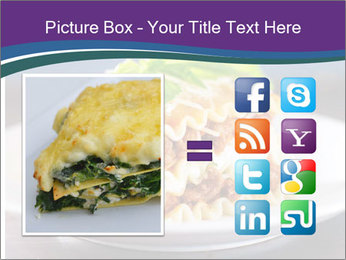 Lasagna with basil and ricotta cheese PowerPoint Templates - Slide 21