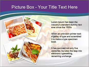 Lasagna with basil and ricotta cheese PowerPoint Templates - Slide 23